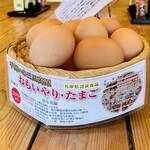 玉の助 - 卓上の卵