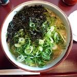 """スープメン - 牡蠣塩らぁ麺(お取り寄せ)・""""ねぎとにんにく""""自家栽培ネギラーメンVer."""