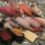 海鮮家 小樽磯鮨 - 握りセット