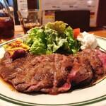 146581207 - 備前黒牛ステーキランチ 肉2倍 1300円
