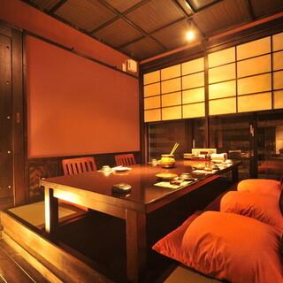 全席個室多種多様な個室をご準備しております。