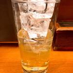 酒蔵北の誉 - 中焼酎が少ないのでホッピー入れてもこんな少ない一杯