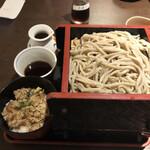 香るつけ蕎麦 蕎麦花 - 鯖燻製定食(大盛り)