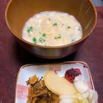 しんのすけ - 雑炊&香物