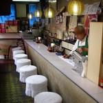 パン・アメリカンホットドッグコーナー - 昭和のタイムトンネルを想わせる店内とご主人