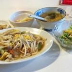 台湾料理故宮 - 19回目9/5焼きモチモチ麺(台湾焼きうどん)
