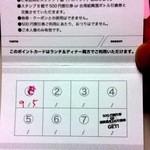 台湾料理故宮 - 19回目9/5 ポイントカード