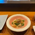 天ぷら専門 多から - お突き出しの白味噌仕立て。美味しい♡