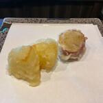 天ぷら専門 多から - 淡路島の甘ーい玉ねぎと金時芋♡