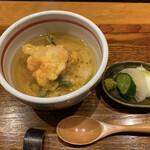 天ぷら専門 多から - 小海老のかき揚げと天茶♡さらさら〜♡