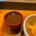 天ぷら専門 多から - 赤だし。