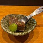 天ぷら専門 多から - デザートの黒糖シャーベット。美味しい♡