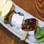蕎喜 - 前菜盛(4~5種) 600円 季節により内容が変わります。