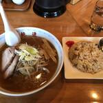 さっぽろ純連 - 料理写真:得々セット(1,000円)塩ラーメンとミニチャーハン