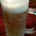 グリル山 - ビール(中) 600円(税込)