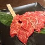 seinikuoroshidonyachokueiesakayakinikuhorumonnikushougyuujirou - ハラミ追加(900円)