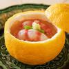 帰燕 - 料理写真:とらふぐ白子と車海老柚子釜