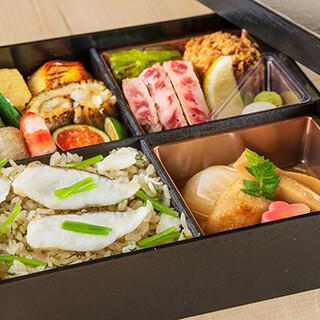ご自宅やオフィスで【帰燕】の味を。多彩なお弁当もございます。