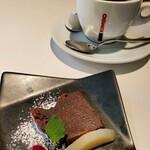 FORESTARIA - デザートとコーヒー。甘い生チョコみたいな。 コーヒーも、ちゃんと美味しかったのです。