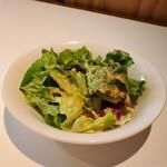 FORESTARIA - サラダはお代わりできます。ドレッシングが美味。