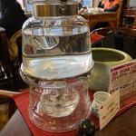 146648427 - この温められたお湯で、何杯でもお茶を淹れられます