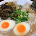 しぇからしか - 料理写真:チャシュ麺+高菜+味タマ♪