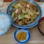 初狩パーキングエリア(下り線)スナックコーナー - 野菜炒めセット