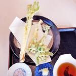 樹庵 - 山菜天盛り