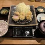 とんかつ わか葉 - 鹿児島産ゆず豚 ヒレカツ定食(1,900円)2020.12