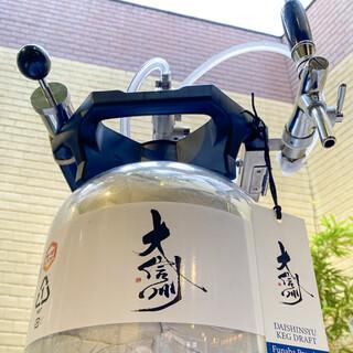 枚方唯一!日本酒サーバーで「生搾りの日本酒」が飲める店