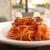 タンタ ローバ - 塩漬け豚バラ肉と香味野菜のトマトソース サイドから