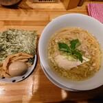 中華そばムタヒロ - 令和3年2月 鶏そば塩 800円 5ポイント特典 3品盛り 味玉、のり、メンマ