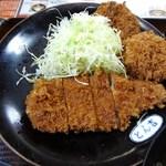 14670405 - ヒレカツ・ロースカツ盛合せ定食(アップ)