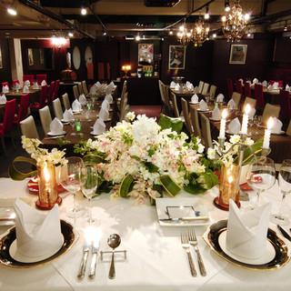 結婚式二次会をはじめ各種パーティーを承ります。