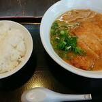 うまか飯店 - 料理写真:みそカツラーメン+白ごはん