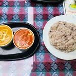 カンティプール - 相方さんのシシカバブ・パプリカ・トマトソースカレー【辛口】で激辛です(´༎ຶོρ༎ຶོ`)
