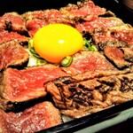 神戸牛焼肉 八坐和 - ステーキ重 赤身