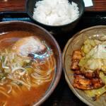 五味八珍 - 料理写真:週替わりランチ ホイコーローとラーメンのセット