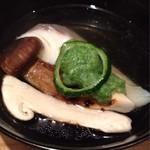 吉い - 2012.08 松茸・オクラ・酢橘です。