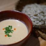 神宮の蕎麦 - 豆乳坦々