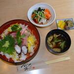 旬彩和創 清水亭 - 海鮮ちらし寿司(850円)    一番人気。