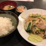 赤札屋 - 野菜炒め定食