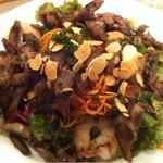 グローブ デュ モンド - 砂肝のコンフィと海老のサラダ仕立て
