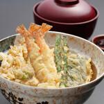 つな八 - 季節ランチ  白魚天丼