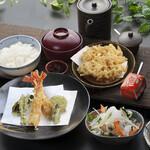 つな八 - 季節ランチ  えびと春野菜定食