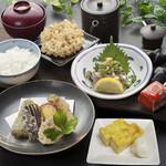 天ぷら つな八 - 季節ランチ  あじ叩き膳