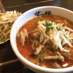 麺屋 茅根 - 料理写真:辛味噌ラーメンと野菜炒め