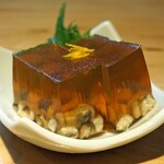 石臼挽き手打 蕎楽亭 - 穴子の煮こごり