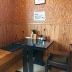 煮干中華 あさり - ふたりでラブラブするにはこちらの席で(T▽T)ノ_彡☆ばんばん!