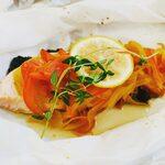 レストラン アオヤマ - キングサーモンのホイル焼き